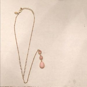 Long Gold and Pink Necklace